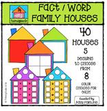 Fact / Word Family Houses {P4 Clips Trioriginals Digital Clip Art}