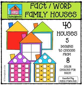 Fact / Word Family Houses {P4 Clips Trioriginals Digital C