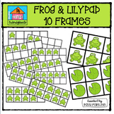 Froggy 10 Frames {P4 Clips Trioriginals Digital Clip Art}