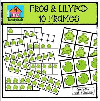 Froggy 10 Frames {P4 Clips Trioriginals Digital Clip Art}