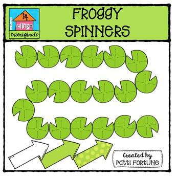 Froggy Spinners  {P4 Clips Trioriginals Digital Clip Art}