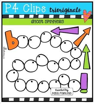 Ghost Spinners  {P4 Clips Trioriginals Digital Clip Art}