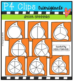 Ghost Spinners  {P4 Clips Trioriginals Digital Clip Art}