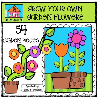 Grow Your Own Garden Flowers {P4 Clips Trioriginals Digita