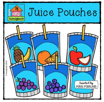 Juice Pouches {P4 Clips Trioriginals Digital Clip Art}