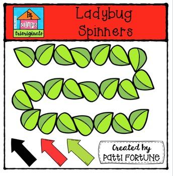 Ladybug Spinners {P4 Clips Trioriginals Digital Clip Art}