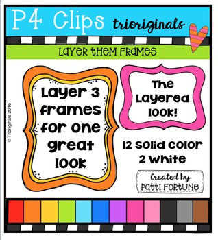 Layer Them Frames  {P4 Clips Trioriginals Digital Clip Art}