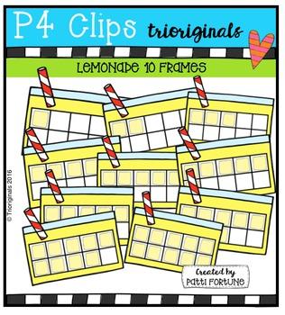 (50% 0FF)  Lemonade 10 Frames {P4 Clips Trioriginals Digital Clip Art}