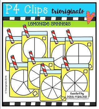 Lemonade Spinners {P4 Clips Trioriginals Digital Clip Art}