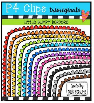 Little Bumpy Borders {P4 Clips Trioriginals Digital Clip Art}