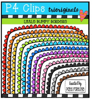 Little Bumpy Borders {P4 Clips Trioriginals Digital Clip Art}