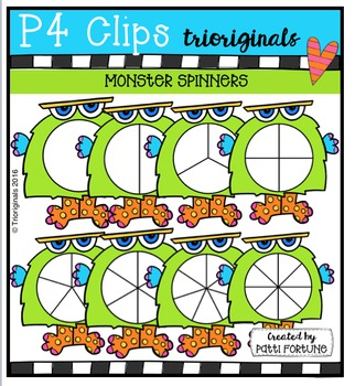 Monster Spinners  {P4 Clips Trioriginals Digital Clip Art}