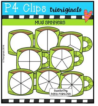 Mug Spinners {P4 Clips Trioriginals Digital Clip Art}