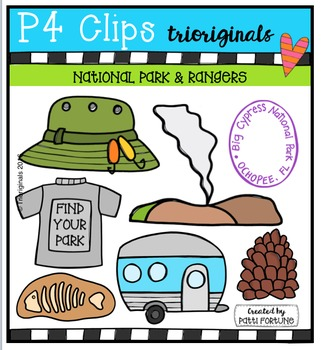 National Park & Rangers {P4 Clips Trioriginals Digital Clip Art}