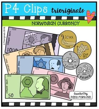Norwegian Currency {P4 Clips Trioriginals Digital Clip Art}