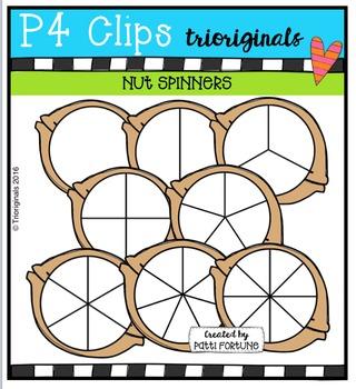 Nut Spinners  {P4 Clips Trioriginals Digital Clip Art}