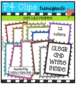 Ooh La La Frames {P4 Clips Trioriginals Digital Clip Art}
