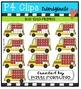 P4 10/20 FRAMES School Buses  {P4 Clips Trioriginals}