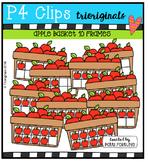 P4 10 FRAMES Apple Basket {P4 Clips Trioriginals Digital Clip Art}