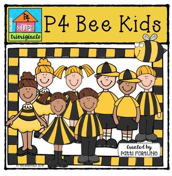 P4 Bee Kids {P4 Clips Trioriginals Digital Clip Art}
