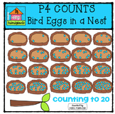 P4 COUNTS Eggs in a Nest {P4 Clips Trioriginals Digital Clip Art}