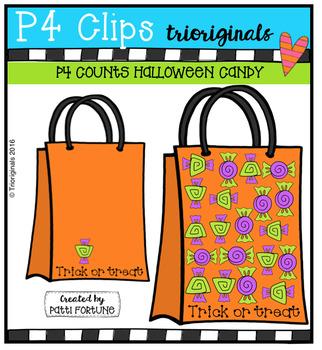 P4 COUNTS Halloween Candy  {P4 Clips Trioriginals Digital