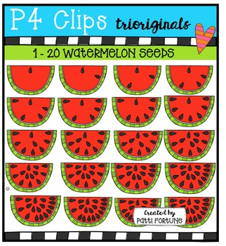P4 COUNTS Watermelon{P4 Clips Trioriginals Digital Clip Art}