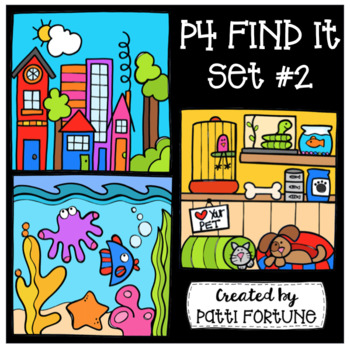 P4 FIND IT Set #2 {P4 Clips Trioriginals Digital Clip Art}