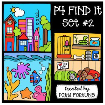 P4 FIND IT Set #2 {P4 Clips Trioriginals Digital Clip Art}