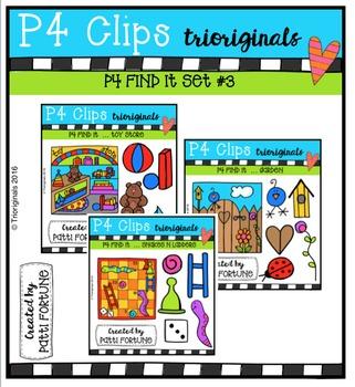 P4 FIND IT Set #3 {P4 Clips Trioriginals Digital Clip Art}