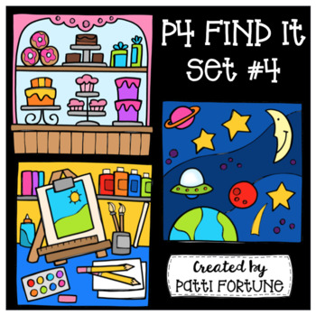 P4 FIND IT Set #4 {P4 Clips Trioriginals Digital Clip Art}