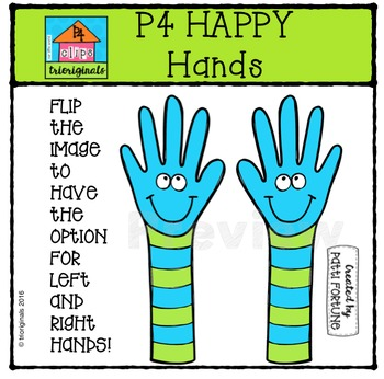 P4 HAPPY Hands {P4 Clips Trioriginals Digital Clip Art}