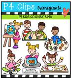 P4 KIDS Activity Time {P4 Clips Trioriginals Digital Clip Art}