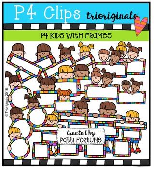 P4 KIDS Frames JSS  {P4 Clips Trioriginals Digital Clip Art}