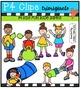 P4 KIDS Fun Race Games  {P4 Clips Trioriginals Digital Clip Art}