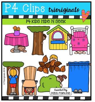 P4 KIDS Hide and Seek  {P4 Clips Trioriginals Digital Clip Art}