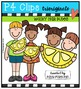 P4 KIDS Lemons {P4 Clips Trioriginals Digital Clip Art}