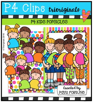 P4 KIDS Popsicles {P4 Clips Trioriginals Digital Clip Art}