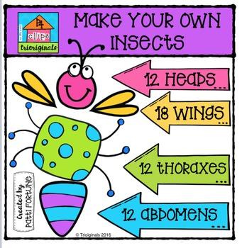 P4 MAKE YOUR OWN Insects {Trioriginals Digital Clip Art}