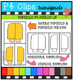 P4 Match Up Popsicles {P4 Clips Trioriginals Digital Clip Art}