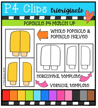 P4 Match Up Popsicles {P4 Clips Trioriginals Digital Clip Art}
