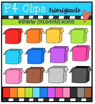 P4 RAINBOW Boxes {P4 Clips Trioriginals Digital Clip Art}