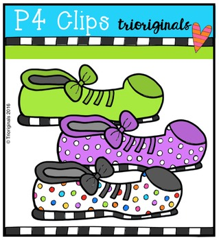 P4 RAINBOW Clown Shoes {P4 Clips Trioriginals Digital Clip Art}