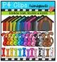 P4 RAINBOW DOGGY Fun {P4 Clips Trioriginals Digital Clip Art}
