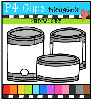 P4 RAINBOW I Cans {P4 Clips Trioriginals Digital Clip Art}