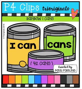 P4 RAINBOW I Cans {P4 Clips Trioriginals Digital Clip Art}
