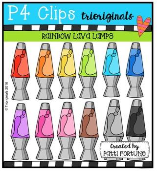 P4 RAINBOW Lava Lamps {P4 Clips Trioriginals Digital Clip Art}