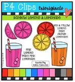 P4 RAINBOW Lemons & Lemonade {P4 Clips Trioriginals Digital Clip Art}