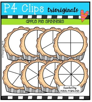 P4 SPINNERS Apple Pies {P4 Clips Trioriginals Digital Clip Art}