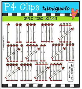 P4 TALLIES Apple Cores {P4 Clips Trioriginals Digital Clip Art}